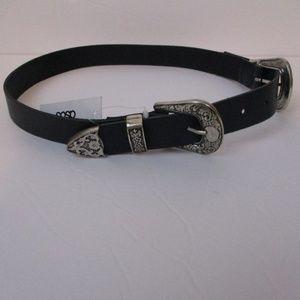 Brand New Asos Black Western style leather belt